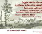 """Conferenza """"Foggia nascita di una città e sviluppo urbano tra passato e presente"""" il 23 ottobre 2014"""