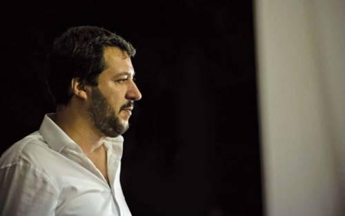 Matteo Salvini a Lesina l'11 agosto 2018 all'inaugurazione della sede Lega Salvini Premier in Piazza Lombardi