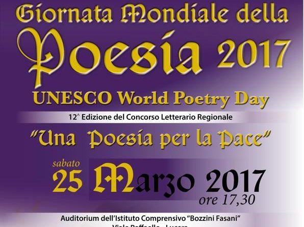 Giornata Mondiale della Poesia il 25 marzo 2017 a Lucera : ecco il programma