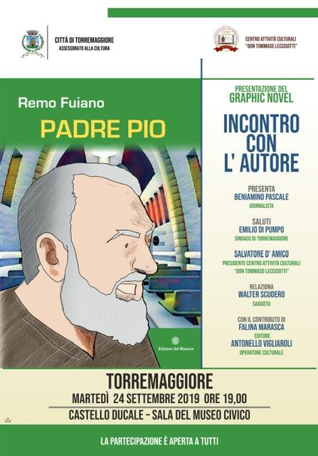 Torremaggiore ospita Remo Fuiano: l'illustratore e fumettista presenta la sua nuova opera dedicata a San Pio da Pietrelcina.