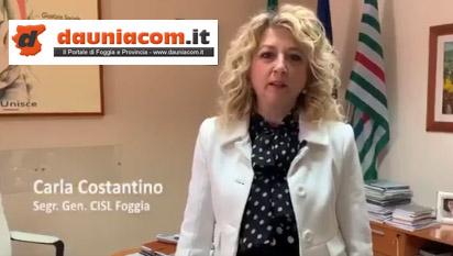Carla Costantino (CISL Foggia) : Ferragosto 2021 sia all'insegna della responsabilità collettiva per curare insieme le ferite della Capitanata. Tavolo sul lavoro istituito in Prefettura è occasione importante