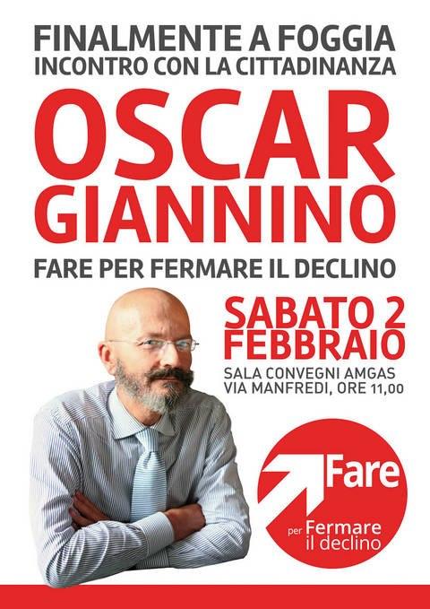 Oscar Giannino candidato di Fermare il Declino a Foggia