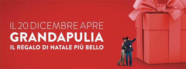 Il 20 dicembre 2016 alle ore 9 apre i battenti a Foggia il Grandapulia, oltre cento punti vendita. E' il centro commerciale più grande del Mezzogiorno