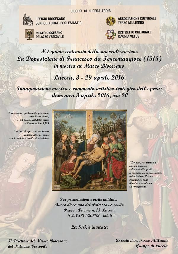 PICTOR FUIT FRANCISCUS TURRIS MAIORIS 1515. INAUGURAZIONE MOSTRA AL MUSEO DIOCESANO di Lucera