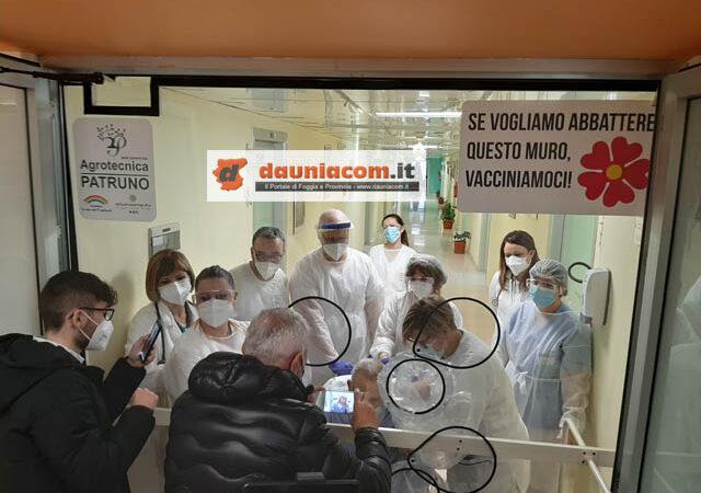 23 dicembre 2020: inaugurata al plesso ospedaliero Lastaria di Lucera la tenda degli abbracci