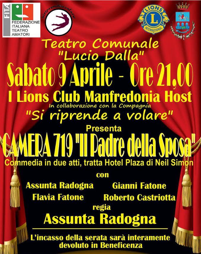 Spettacolo teatrale di beneficenza il 9 aprile 2016 a Manfredonia