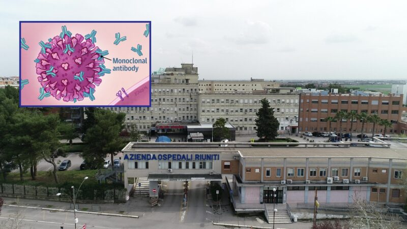 Dal 12 aprile 2021 al via la somministrazione degli anticorpi monoclonali al Policlinico Riuniti di Foggia