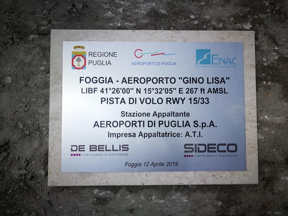 AEROPORTO GINO LISA DI FOGGIA, FITTO  REPLICA AD EMILIANO E PIEMONTESE: LE CHIACCHIERE STANNO A ZERO, FACCIAMO PARLARE I FATTI!