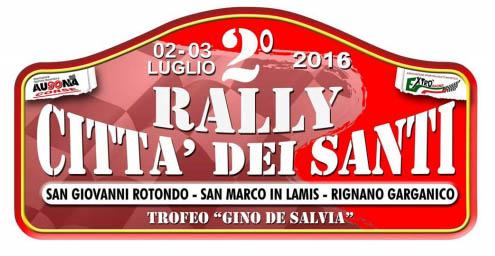 Rally Città dei Santi: confermata l'edizione 2016