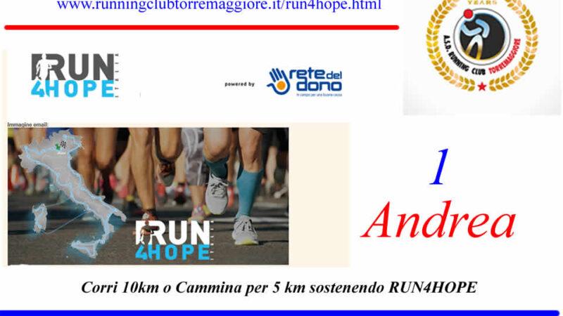 La Capitanata corre a sostegno di Run4Hope
