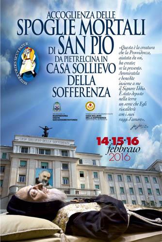 Dal 14 al 16 febbraio l'ostensione di San Pio da Pietrelcina in Casa Sollievo della Sofferenza