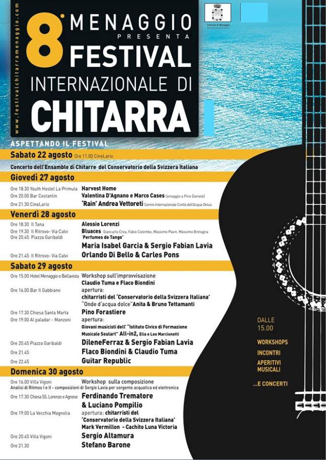 8° FESTIVAL CHITARRISTICO di MENAGGIO (COMO), si esibisce anche Ferdinando Trematore