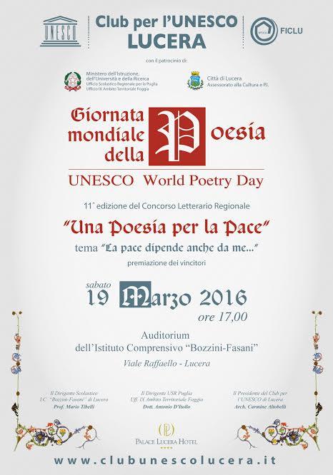 Giornata della Poesia il 19 marzo 2016 a Lucera